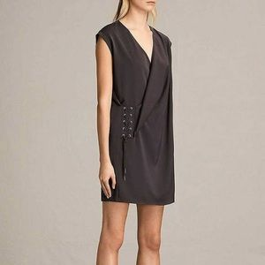 ALLSAINTS | Aures Front Lace Black Mini Dress